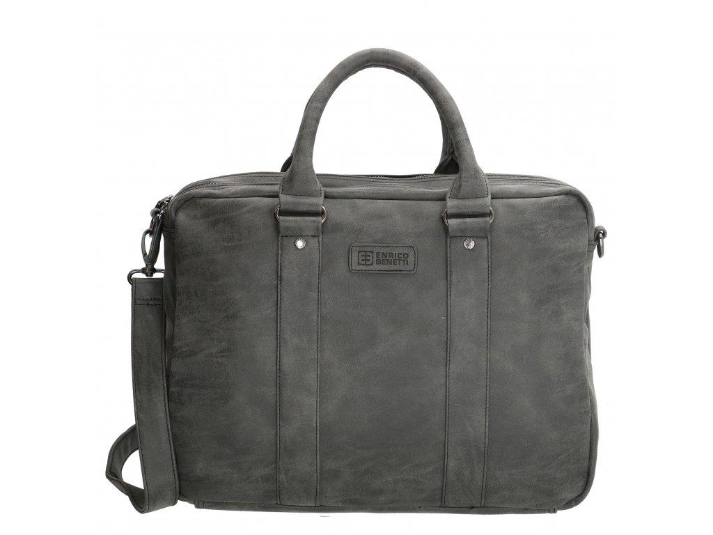 49d6b5fa3d Pánská byznys taška na notebook Enrico Benetti - černá - Luggy.cz